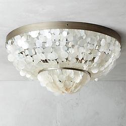 capiz flush mount lamp