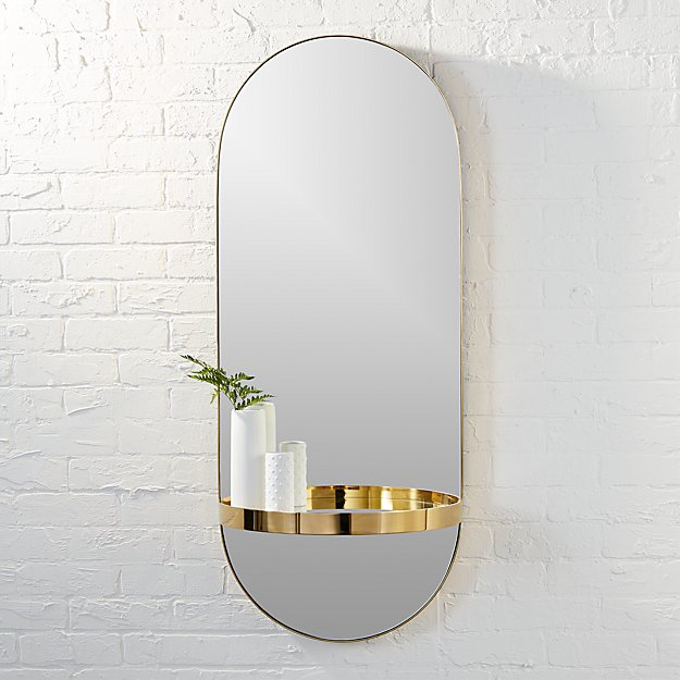 framed oval bathroom mirror caplet oval mirror with shelf reviews cb2 18395 | ?$web product hero$&161123104834&wid=625&hei=625
