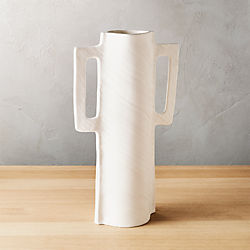capri white vase