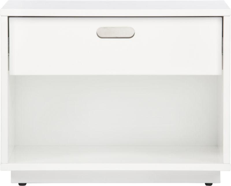 gloss white nightstand