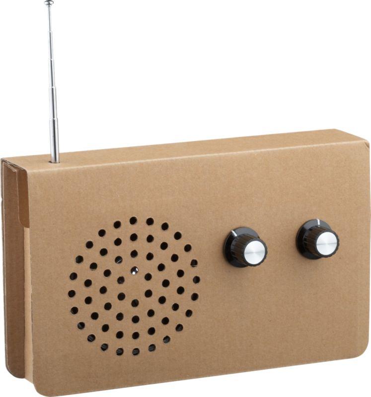 cardboard radio