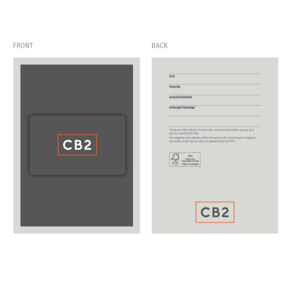 Cb2 gift cards buy online and check gift card balance gift card terms negle Images