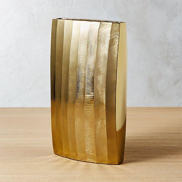 Carver Brass Narrow Vase
