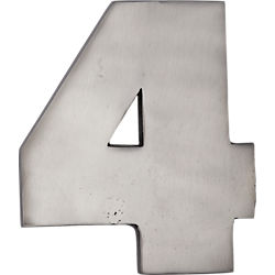 cast iron house number 4