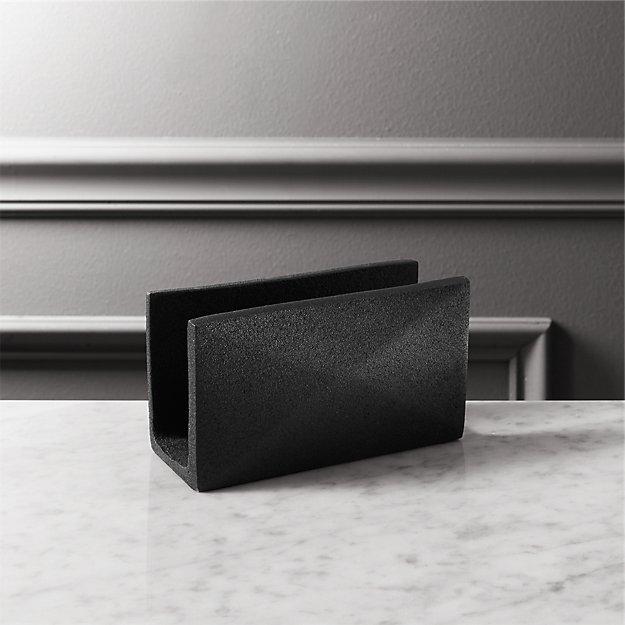 black cast letter holder