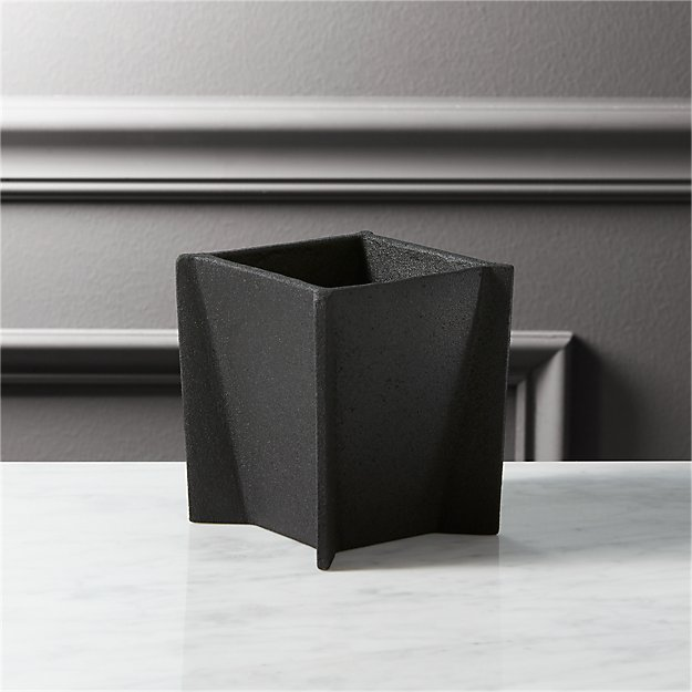 black cast pencil cup