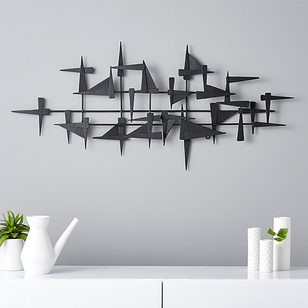 Wall Metal Decor castile metal wall decor | cb2