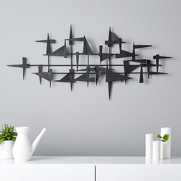 Metal Wall Accent Pieces Adorable Castile Metal Wall Decor  Cb2 Decorating Design
