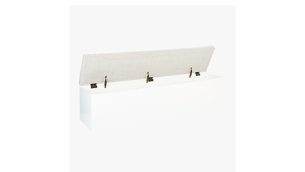 Catch-All Large White Storage Bench