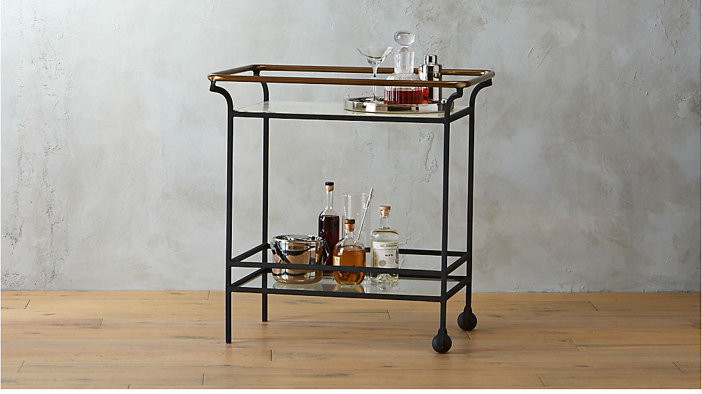 Cavalier Marble Bar Cart Cb2