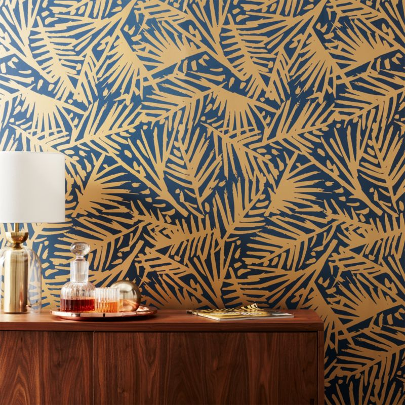 Caymen Navy And Gold Palm Wallpaper In Wallpaper Reviews HD Wallpapers Download Free Images Wallpaper [1000image.com]