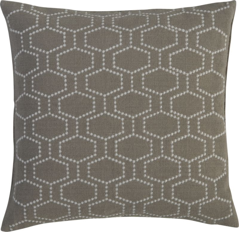 """cell shadow 18"""" pillow"""