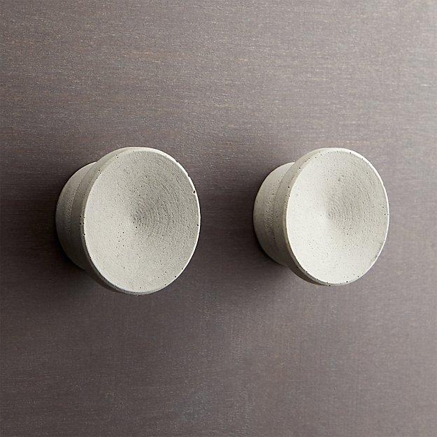 set of 2 kast cement disk drawer pulls