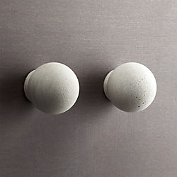 set of 2 kast cement globe drawer pulls