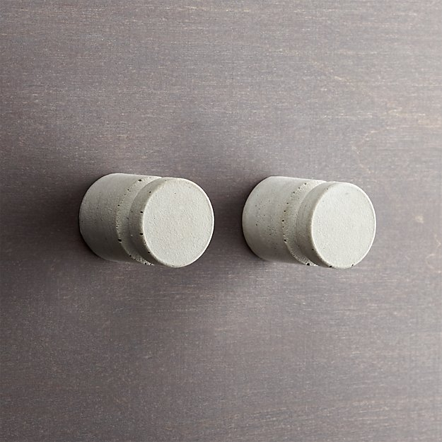 set of 2 kast cement pillar drawer pulls