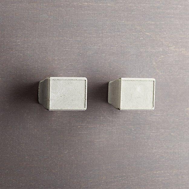 set of 2 kast cement rectangular drawer pulls