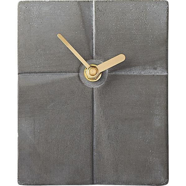 CementSlabDeskClockAVF16