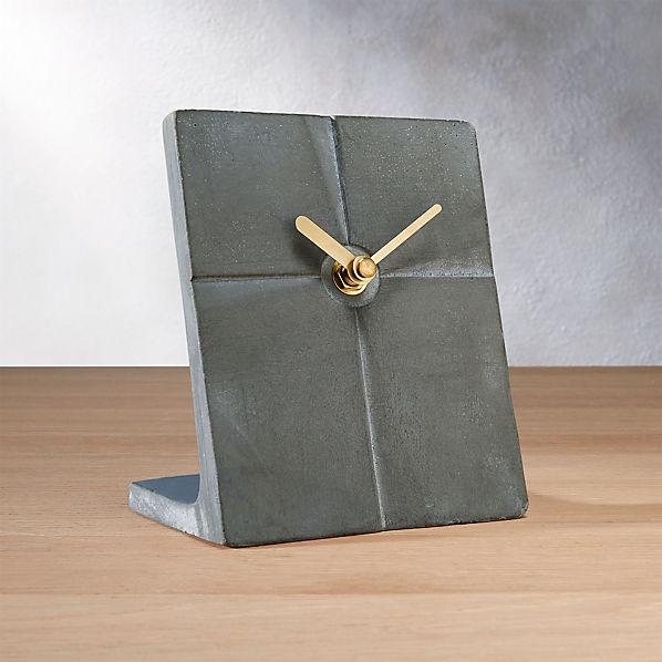 CementSlabDeskClockROF16