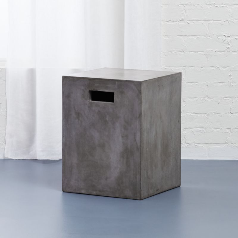 Captivating Cement Grey Side Table | CB2