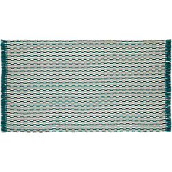 centipede blue-green natural wool rug 5'x8'
