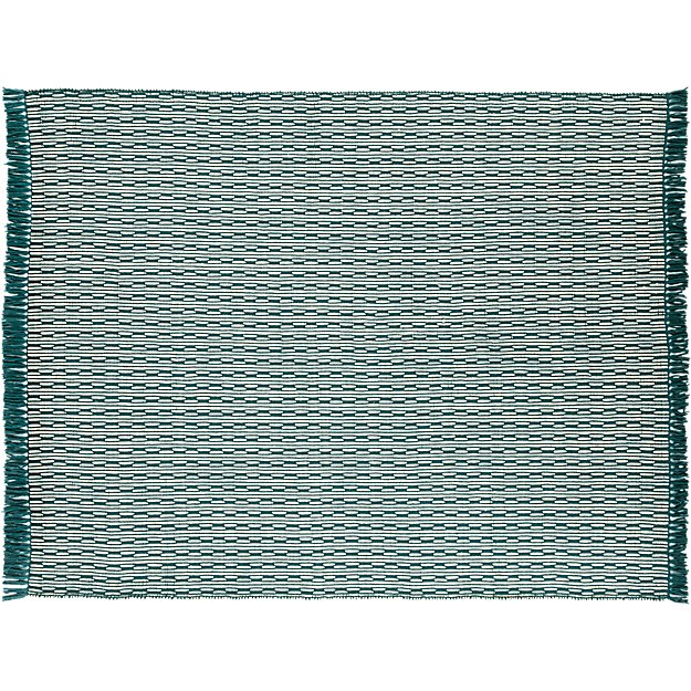 centipede blue-green natural wool rug 8'x10'