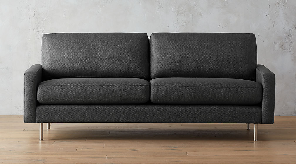 Central Graphite Sofa Cb2