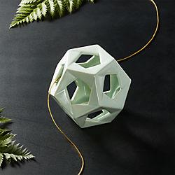 Ceramic Shiny Mint Open Ball Ornament-Bowl Filler