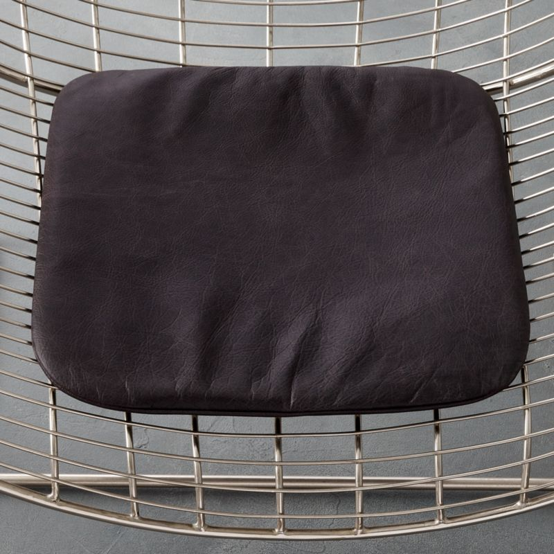 black leather chair cushion