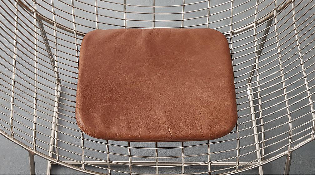brown leather chair cushion