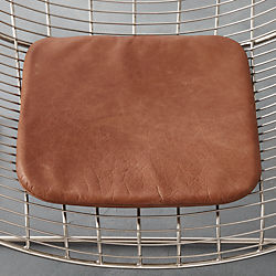 brown leather chair cushion