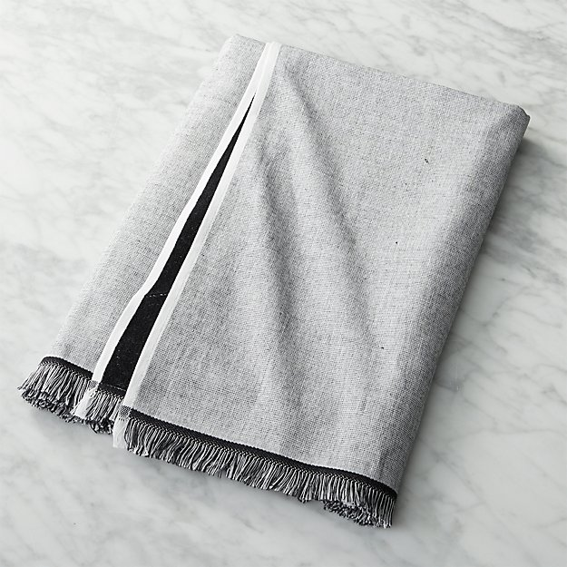 Bath Towel Sets Black And White: Chambray Black And White Bath Towel