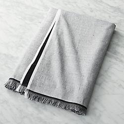 Chambray Black and White Bath Towel