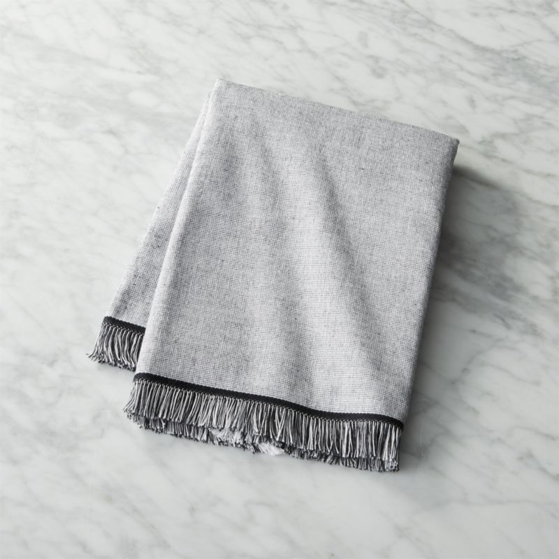 Bath Towel Sets Black And White: Chambray Black And White Hand Towel + Reviews