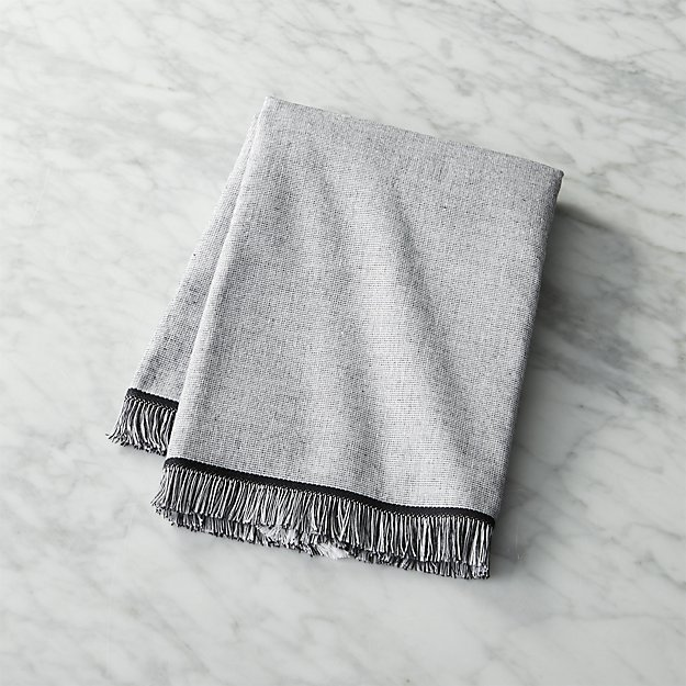 Bath Towel Sets Black And White: Chambray Black And White Hand Towel