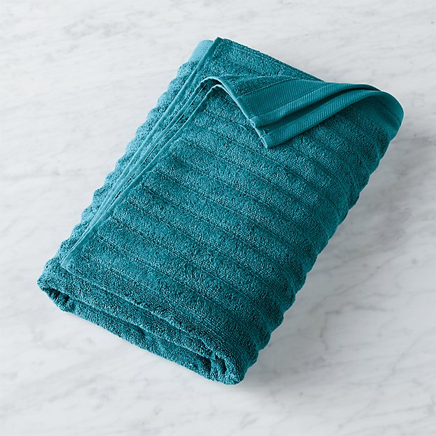 channel blue green cotton bath towel