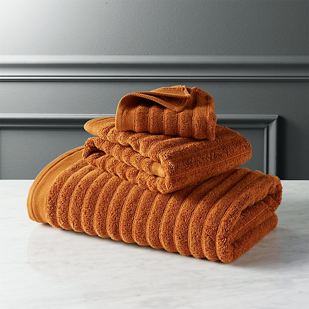 channel copper cotton bath towels