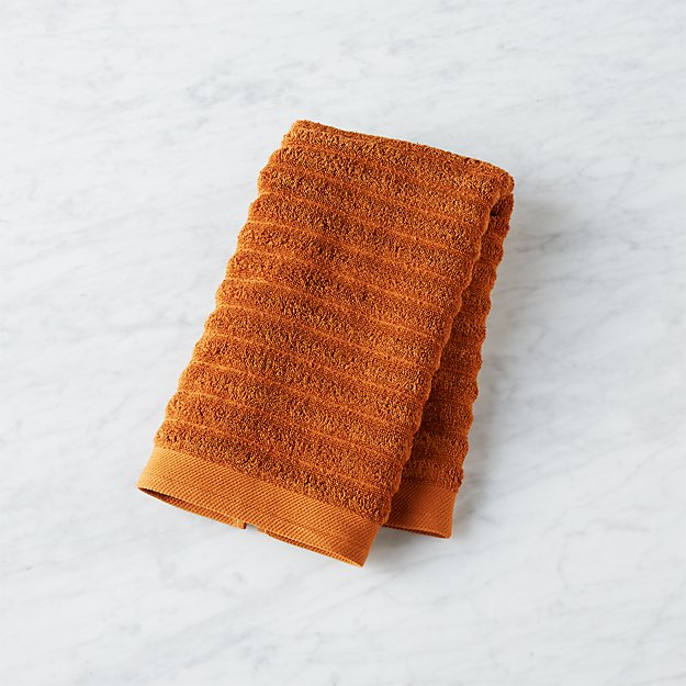channel copper cotton hand towel