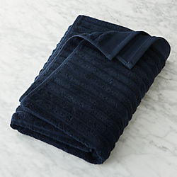 Channel Cotton Navy Bath Towel