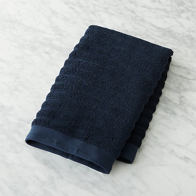 Channel Cotton Navy Hand Towel.