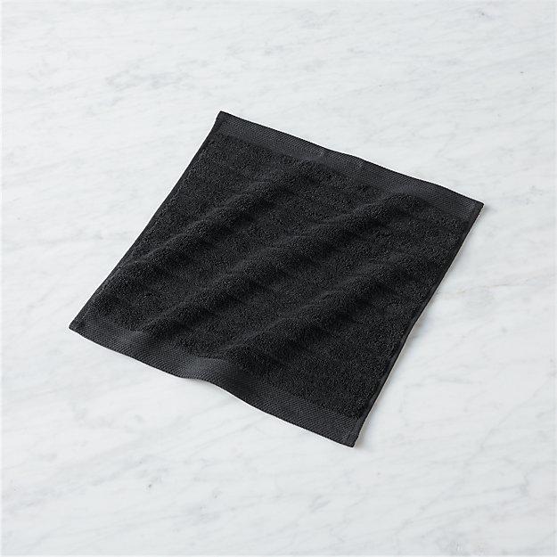 channel black cotton washcloth