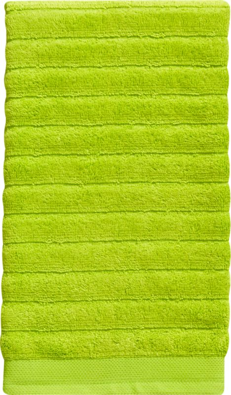 channel electric green hand towel