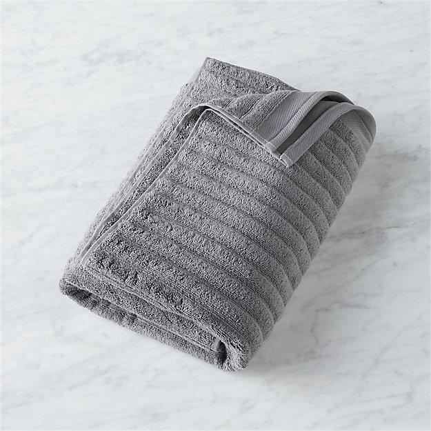 channel grey cotton bath towel