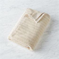 channel ivory cotton bath towel