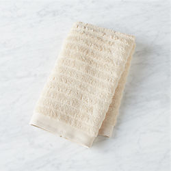 channel ivory cotton hand towel