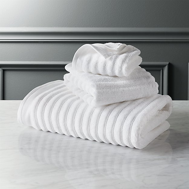 channel white cotton bath towels