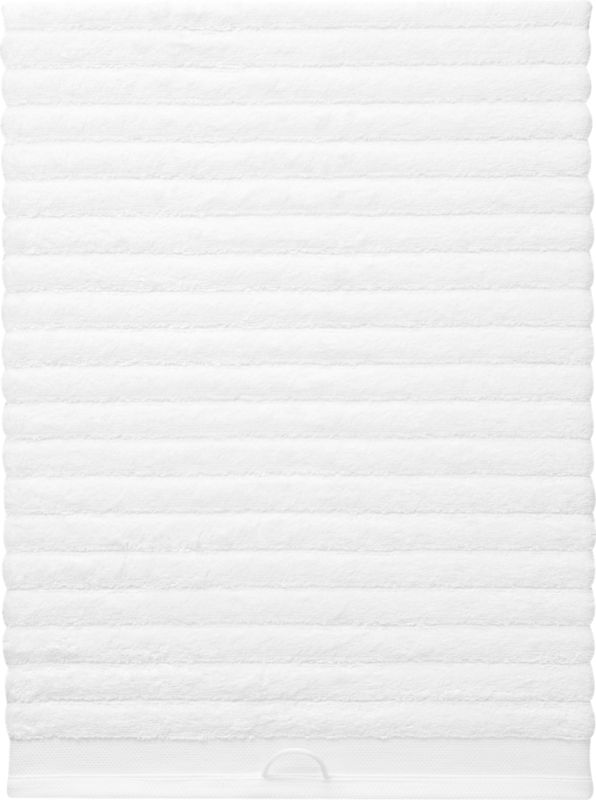 rayon bamboo channel white oversized bath towel