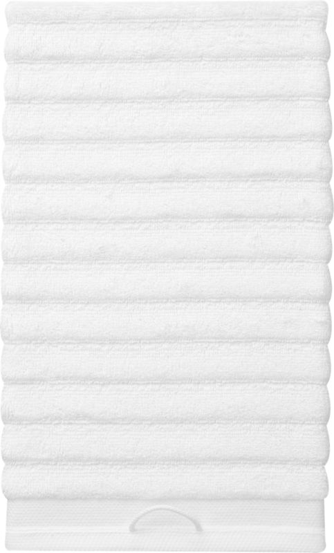 rayon bamboo channel white hand towel