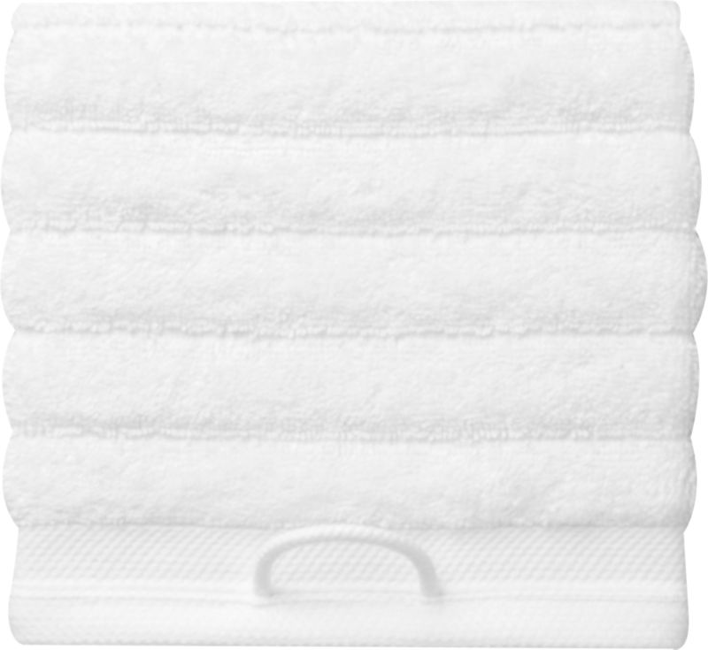 rayon bamboo channel white washcloth