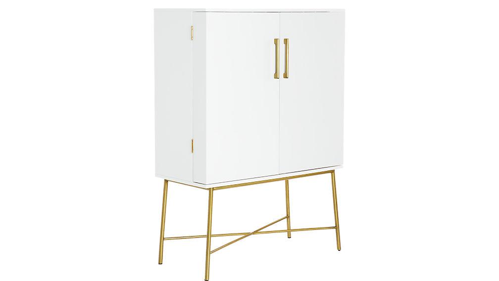 Charlene White Wine Cabinet