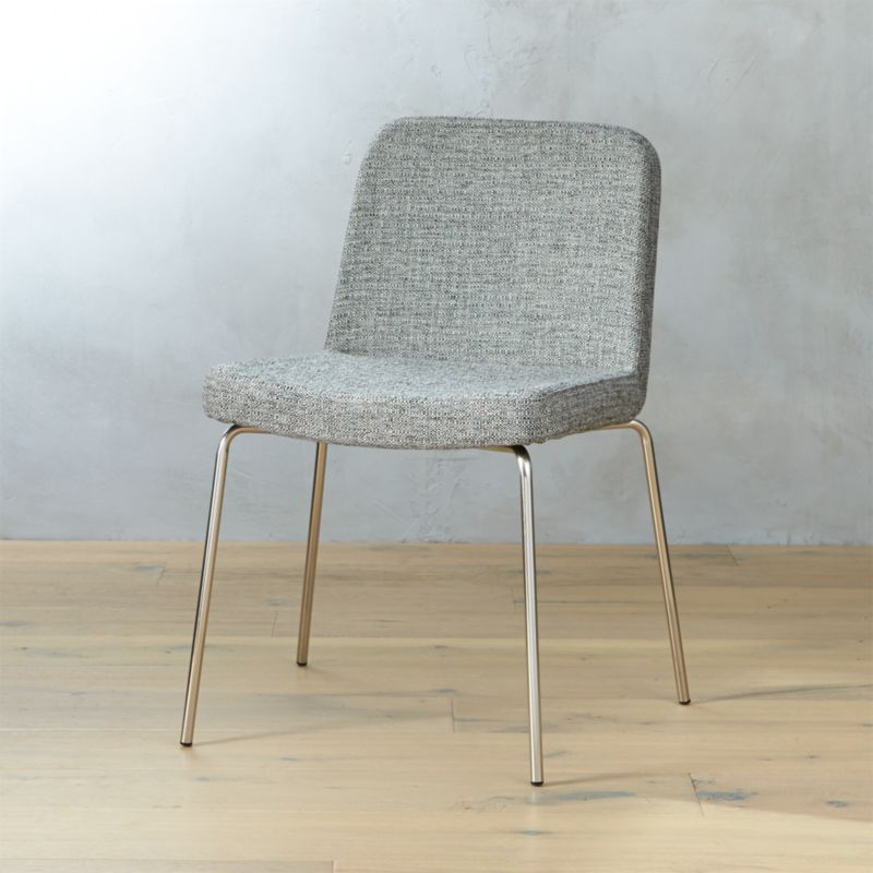 Charlie Grey Tweed Chair | CB2